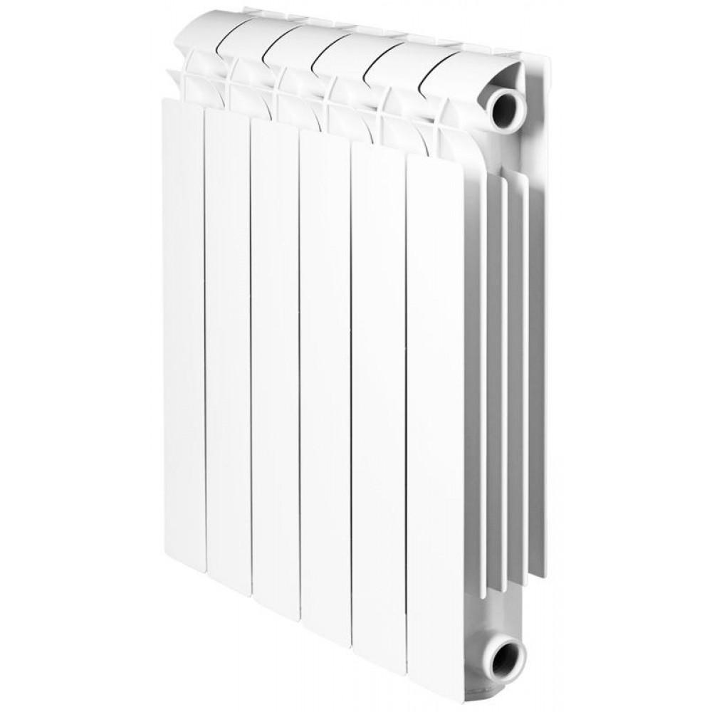 Радиатор отопления алюминиевый секционный Global VOX 500, 6 секций, боковое подключение, 1158 Вт…