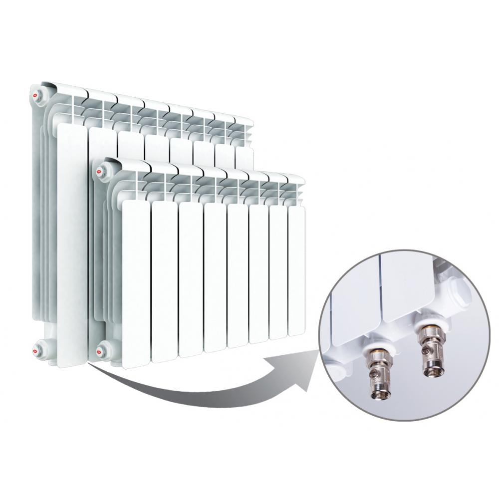 Радиатор отопления алюминиевый секционный Rifar Alum Ventil-500, 8 секции, нижнее подключение, 1464 Вт…