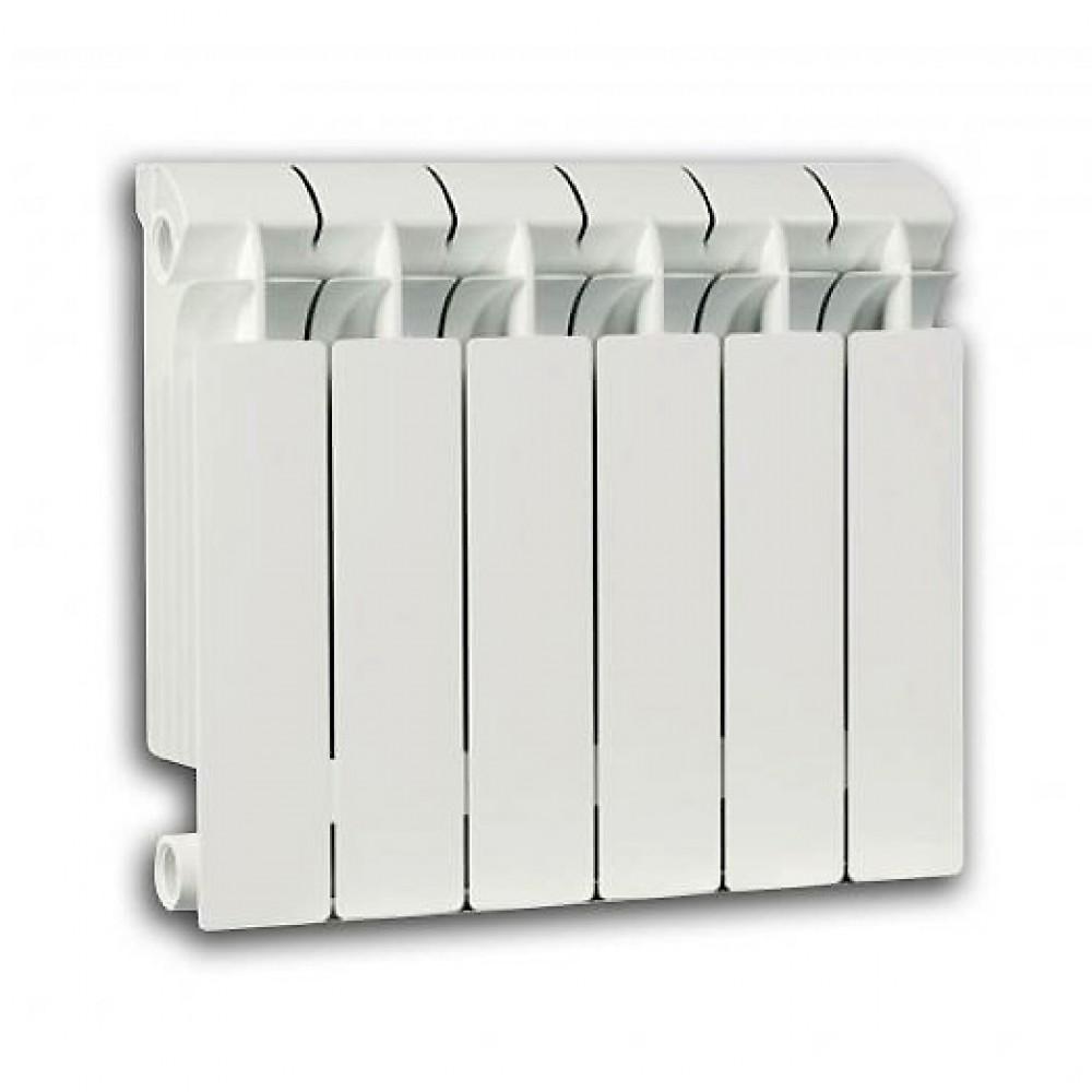 Радиатор отопления биметаллический секционный Global STYLE PLUS 500, 6 секций, боковое подключение, 1110 Вт…