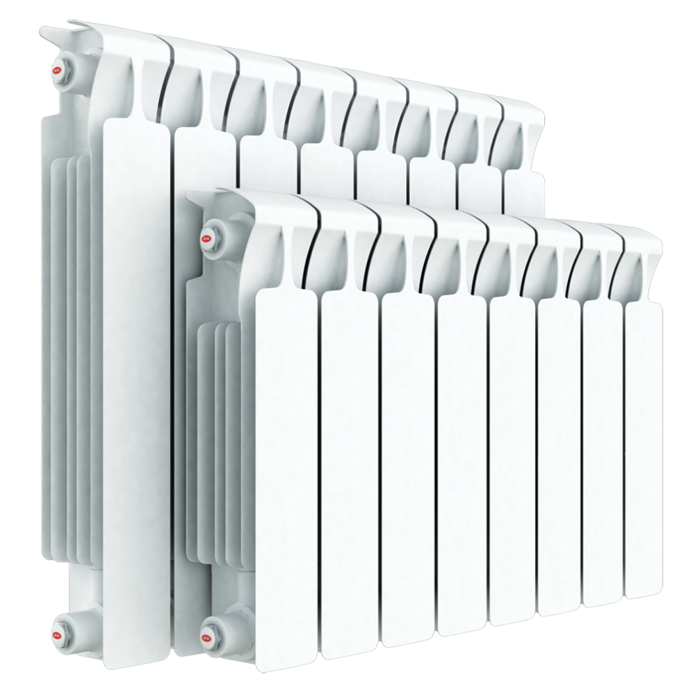Радиатор биметаллический секционный Rifar Monolit RM350, 10 секций, боковое…