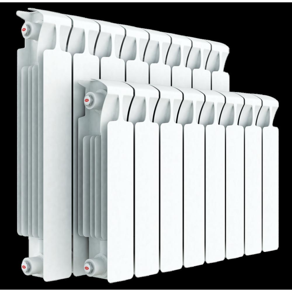 Радиатор биметаллический секционный Rifar Monolit RM350, 9 секций, боковое…