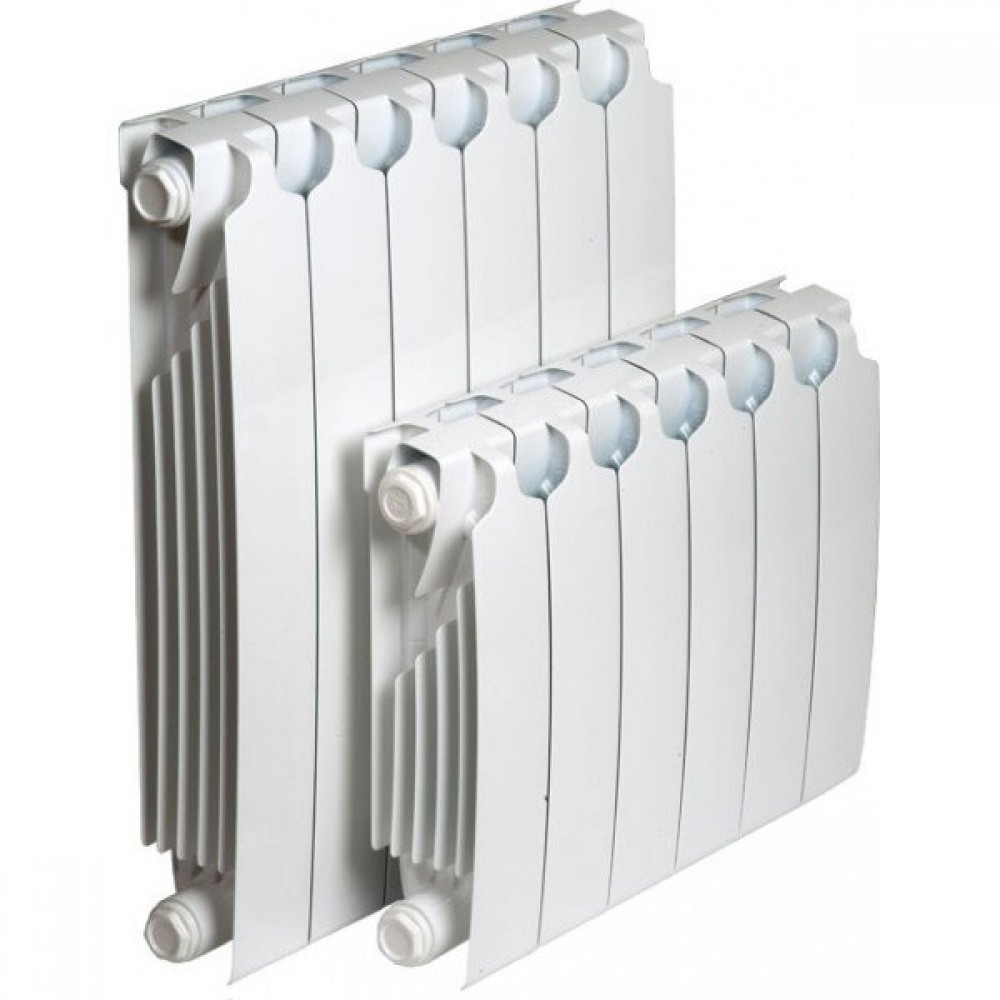 Радиатор отопления биметаллический секционный Sira RS 600, 12 секций, боковое подключение, 2760 Вт…