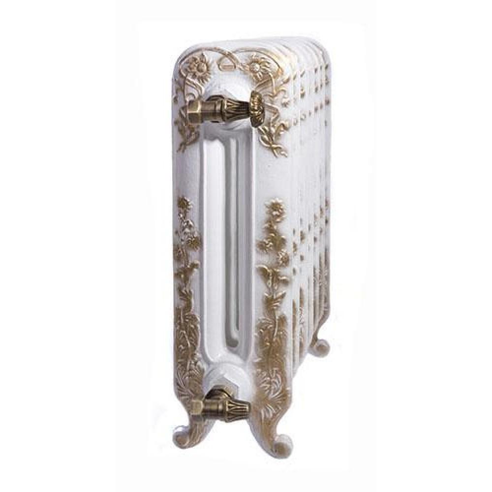 Радиатор отопления чугунный секционный GuRaTec Diana 590/15, 15 секций, цвет Mattschwarz, боковое подключение, 1590 Вт…