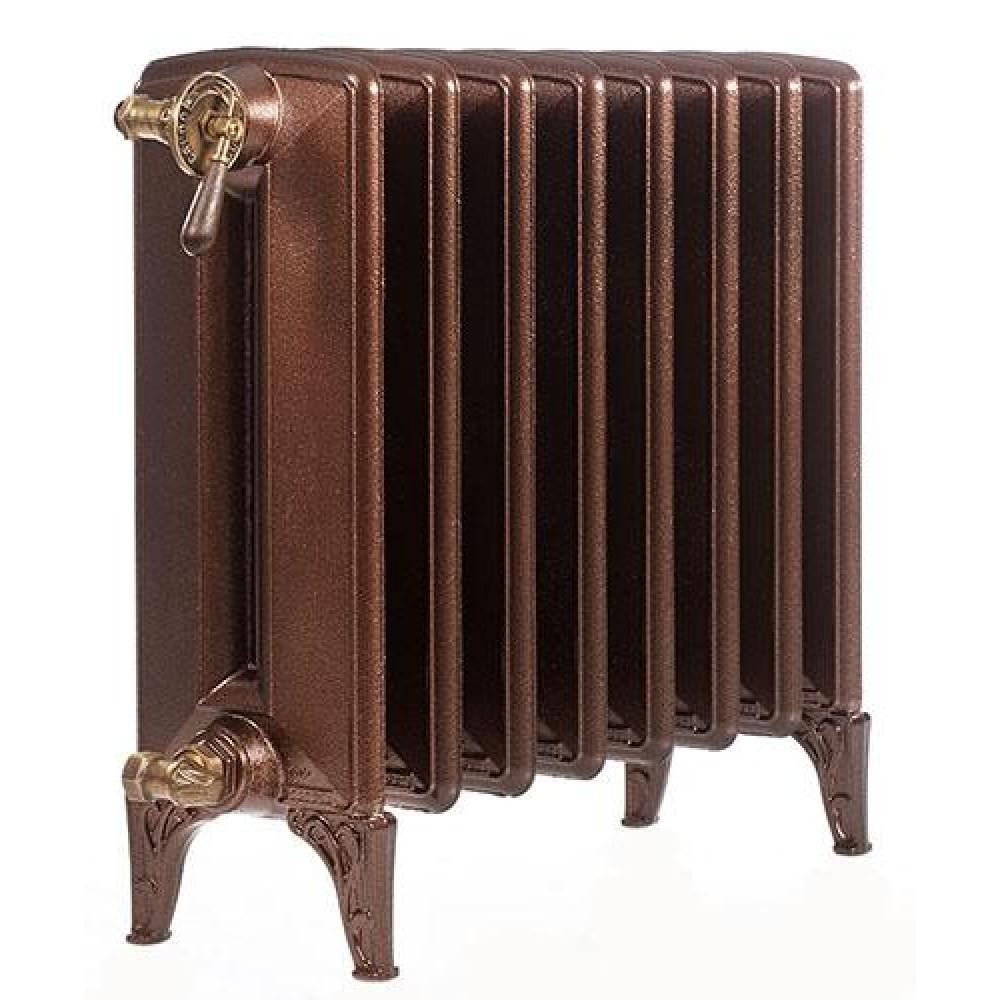Радиатор отопления чугунный секционный GuRaTec Flora-G 640/05, 5 секций, цвет Mattschwarz, боковое подключение, 683 Вт…