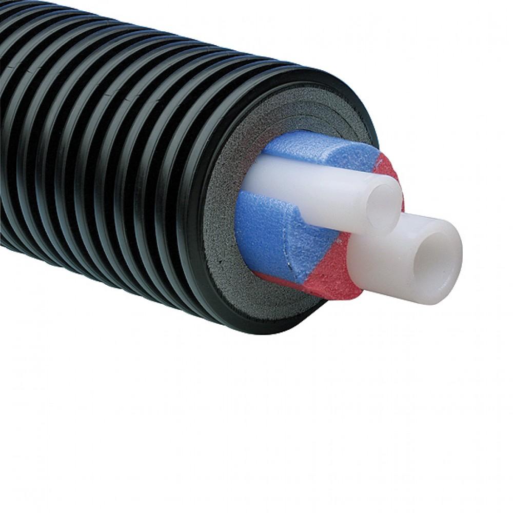 Труба Uponor Ecoflex Aqua Twin Ø 2x50x6,9/200 мм., сшитый полиэтилен, бухта 100 м…