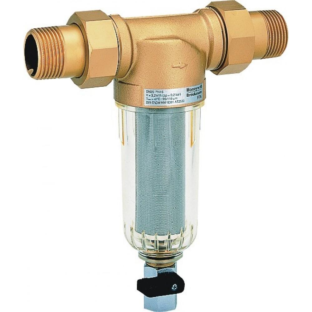 Промываемый фильтр очистки воды Honeywell MiniPlus-FF06-3/4 AA, для холодной воды…