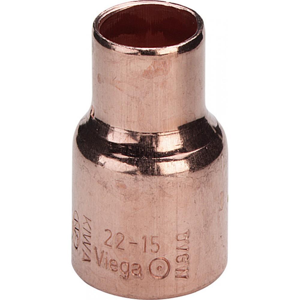 Муфта двухраструбная редукционная Viega  Ø 22 x 18, медь, пайка…