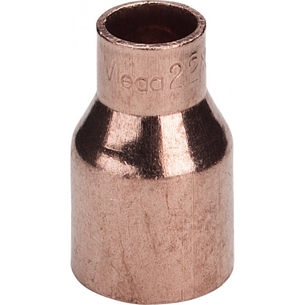 Муфта однораструбная редукционная Viega  Ø 22 x 18, медь, пайка…