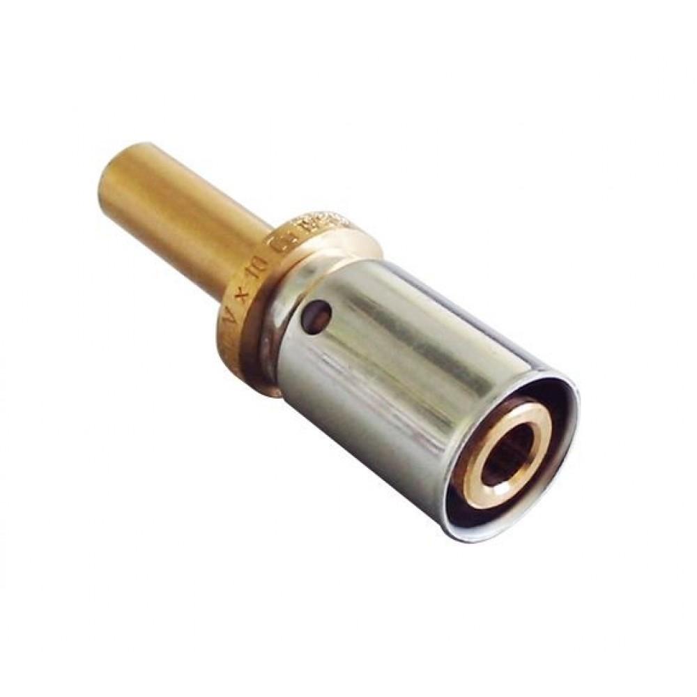 Cofit P пресс соединение с переходом Ø16х2.0х10, бронза/нерж сталь, Oventrop…