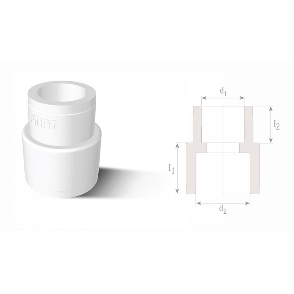 Муфта редукционная Firat Ø 110х90, полипропилен (Ø 110х90, PPRC, цвет…