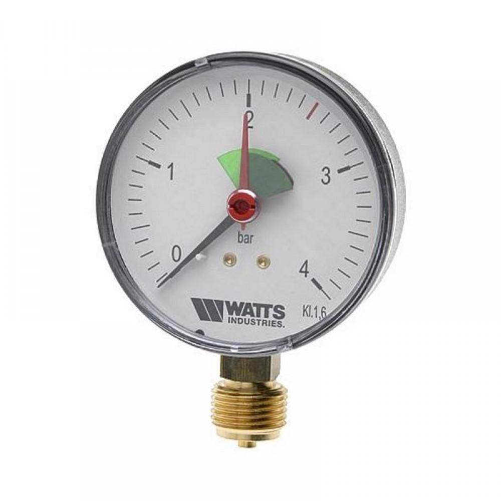 Манометр аксиальный Watts MHA 80/4 - REM 8/15, Ø 80 мм, P=0-4 бар, пластик,…