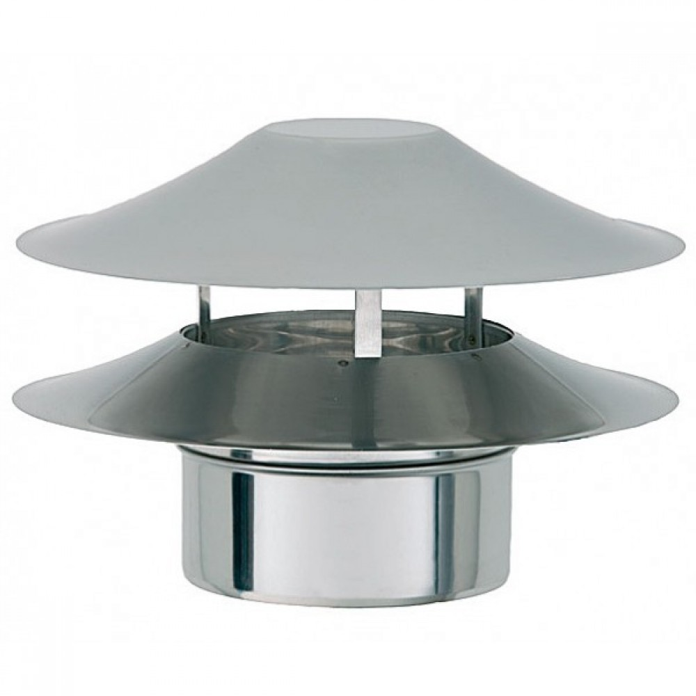 Дефлектор Bofill BL, Ø 180 мм нерж сталь (Ø180, одностенный, нержавеющая…