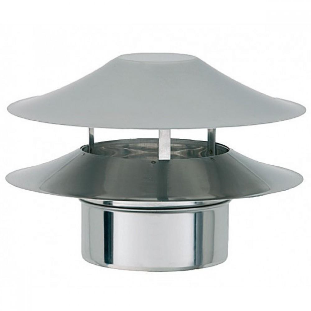 Дефлектор Bofill BL, Ø 150 мм нерж сталь (Ø150, одностенный, нержавеющая…