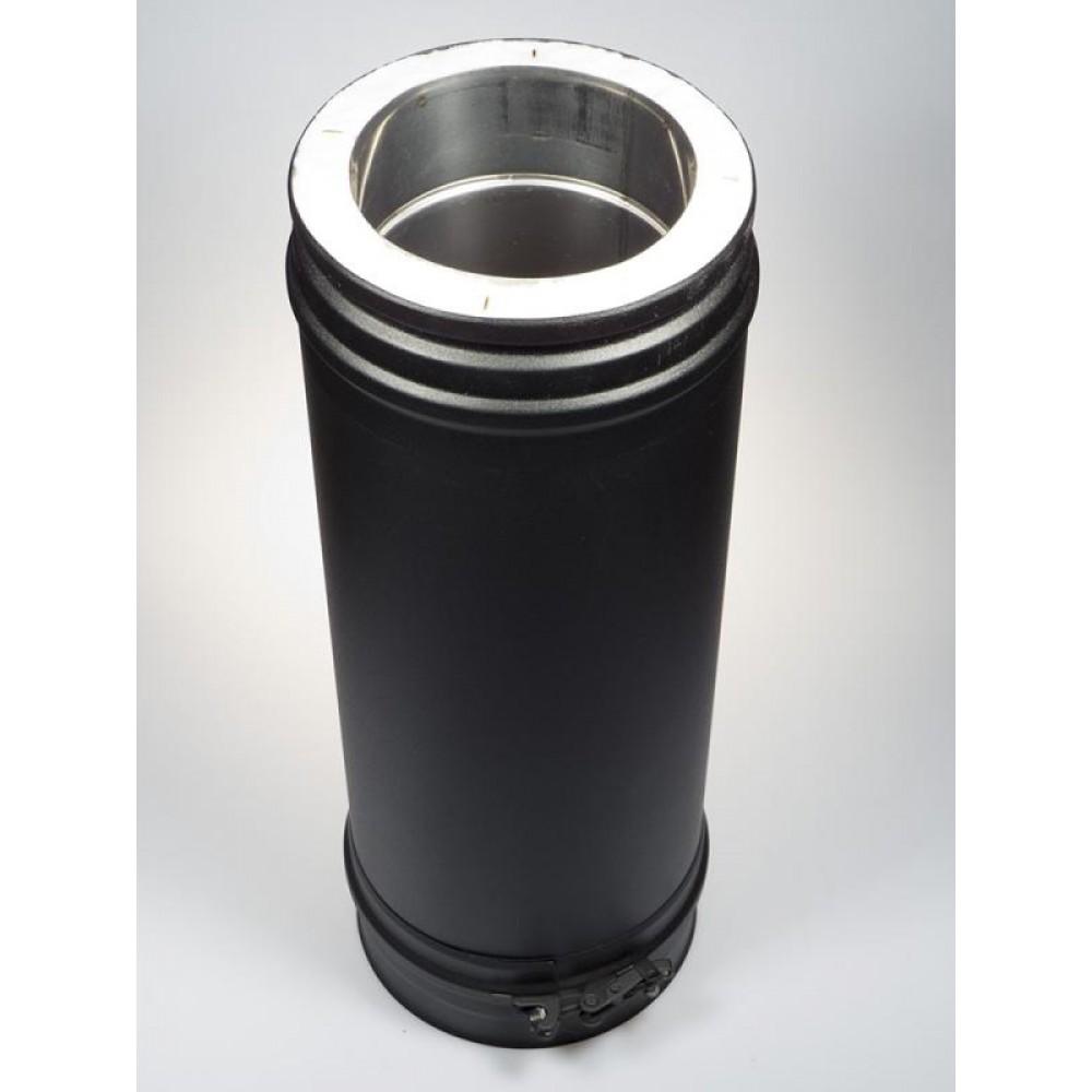 Элемент трубы Shiedel Permeter 25 Ø 130xL1000 мм, черный (RAL 9005)…