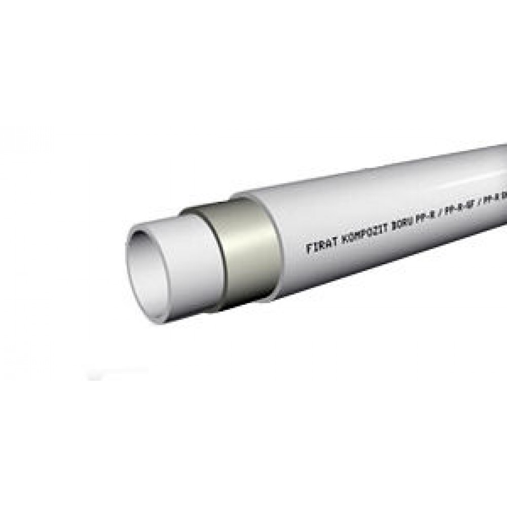 Труба Firat Ø 25 х 4,2 мм, армированная стекловолокном, полипропилен, штанга 4 м (Ø25 мм, толщина стенки 4,2 мм, PPRC,…